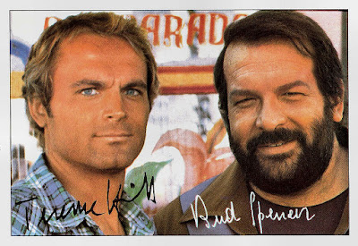 Bud Spencer & Terence Hill - Slaps and Beans -  Autographed pictures of  Terence Hill and Bud Spencer from the 70s.