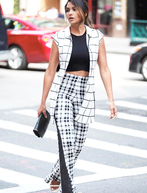 Dawilda gonzalez nyfw15 ootd black and white outfit