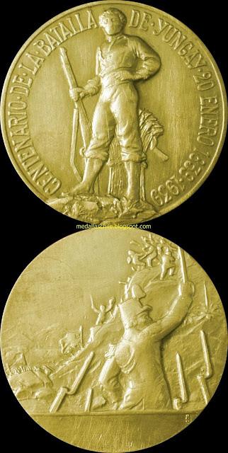 Medalla 100 años Batalalla de Yungay