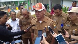 Kadis PUPR Provinsi Jambi Dampingi Sekda Provinsi Jambi Tinjau RTH