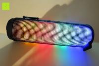 Licht: R4mpage RP-1100 Bluetooth Lautsprecher 10Watt mit LED Farbwechselmodus, und Mikrofon für Freisprechfunktion
