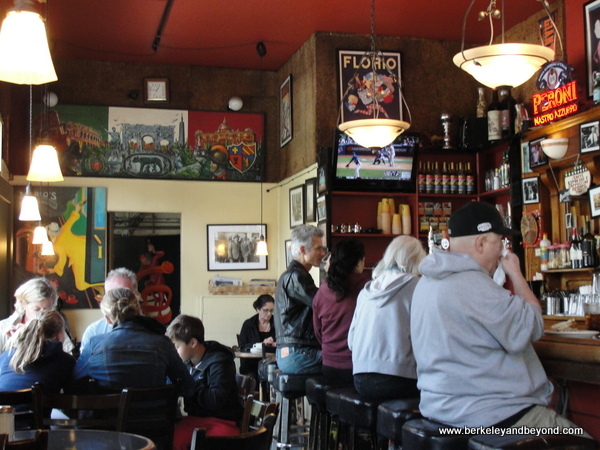 interior at Mario's Bohemian Cigar Store Cafe in San Francisco