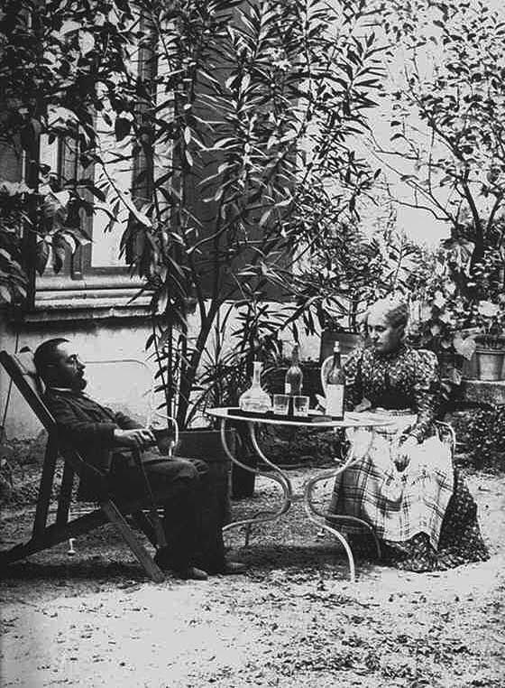 Toulouse-Lautrec y su madre en Malromé