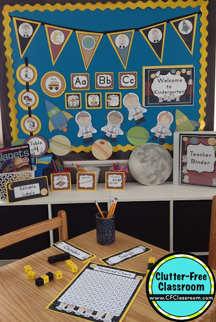 Classroom Decoration Printables ~ Space themed classroom ideas printable