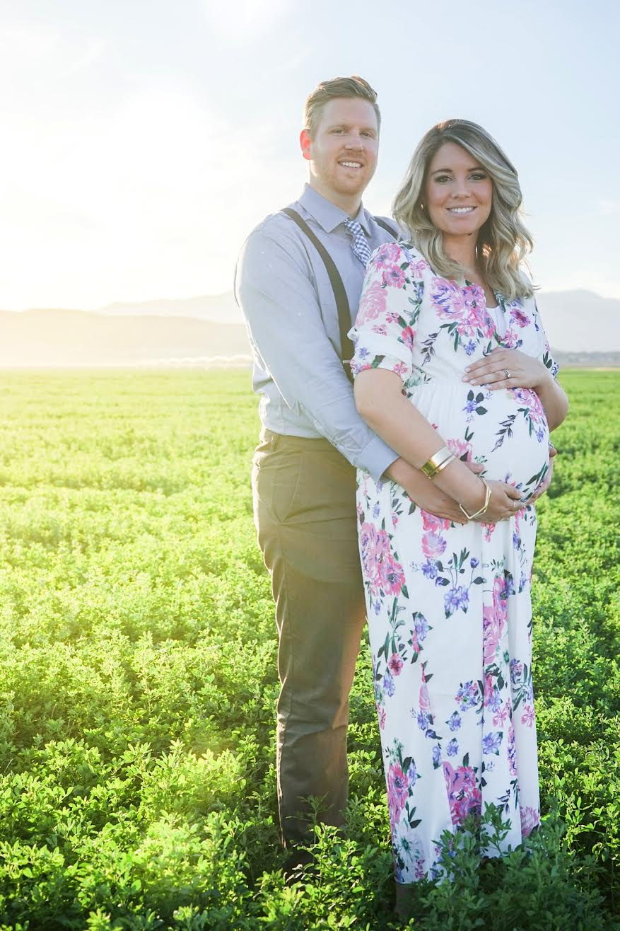 Floral Dress, Maternity Photos, Maternity Photoshoot