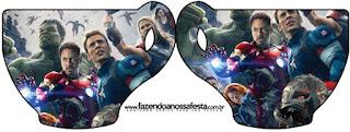 Tarjeta con forma de taza de Vengadores