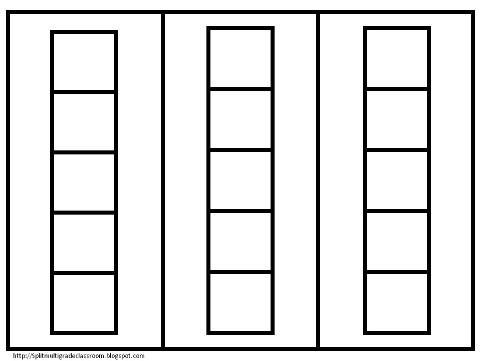 10 frame template printable - multi grade matters ideas for a split class five frame cards