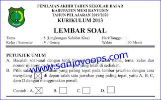 Download Soal PAT PAS UKK Kelas 5 Tema 8 PDF Tahun 2019/2020