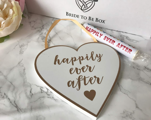 heart shaped happily ever after plaque