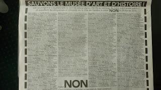 L'annonce de la Tribune de Genève