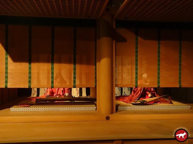 Courtisanes qui jouent de la musique à l'époque Héian