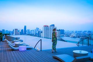 Infinity pool at AVANI Riverside Bangkok Hotel, Thailand