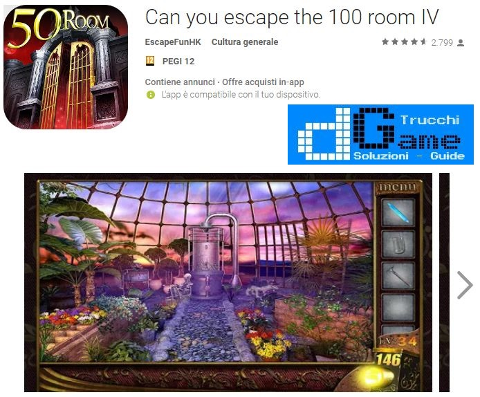 Soluzioni Can you escape the 100 room IV (4) livello 41 42 43 44 45 46 47 48 49 50 | Trucchi e Walkthrough level