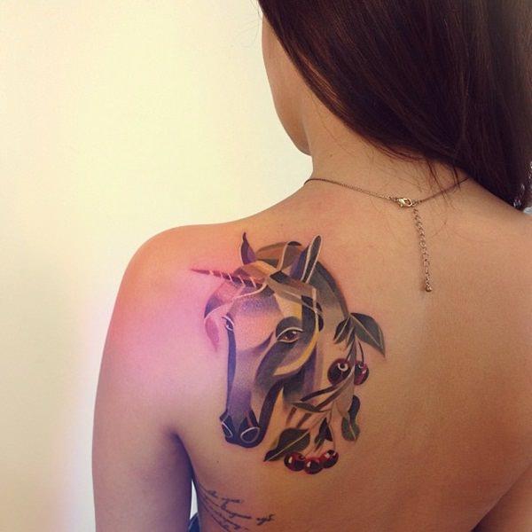 tatuagem unicórnio