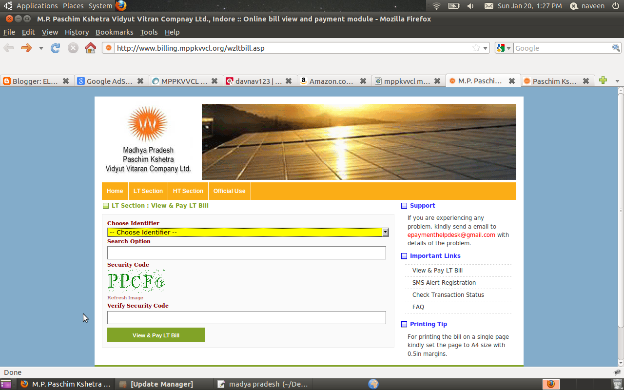 Madhya Pradesh Electricity Bill Payment And Status