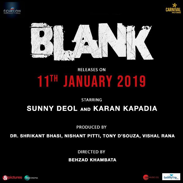 Blank new upcoming movie first look, Poster of Sunny Deol, Karan Kapadia next movie download first look Poster, release date