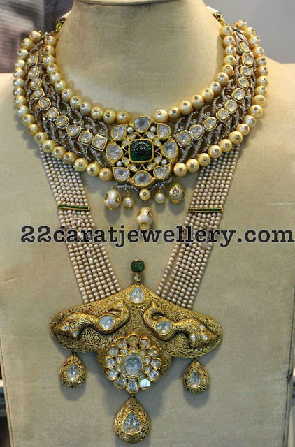 Victorian Style Necklace and Long Set
