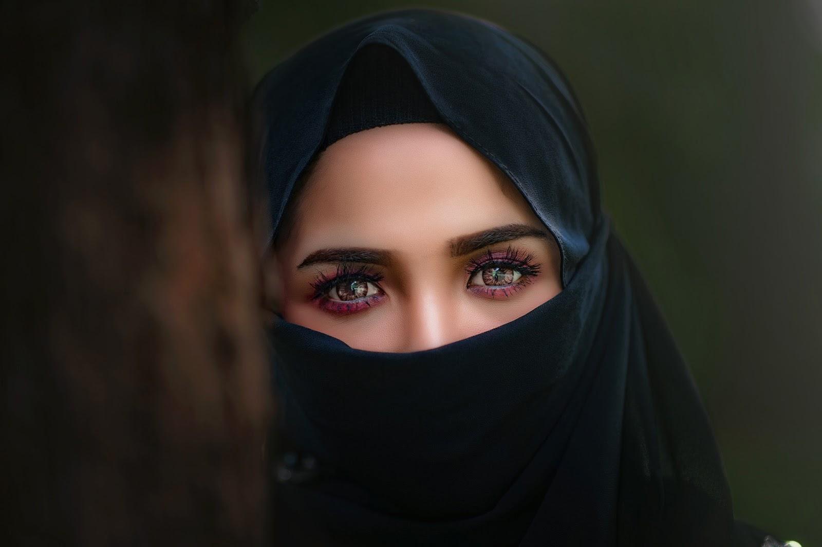 Hijab, Headscarf, Veil, Eyes, Girls, Beauty, Fashion, Women's Fashion,