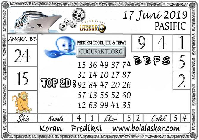 Prediksi Togel PASIFIC LASKAR4D 17 JUNI 2019
