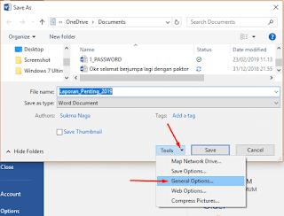 Cara Memberi Password pada File
