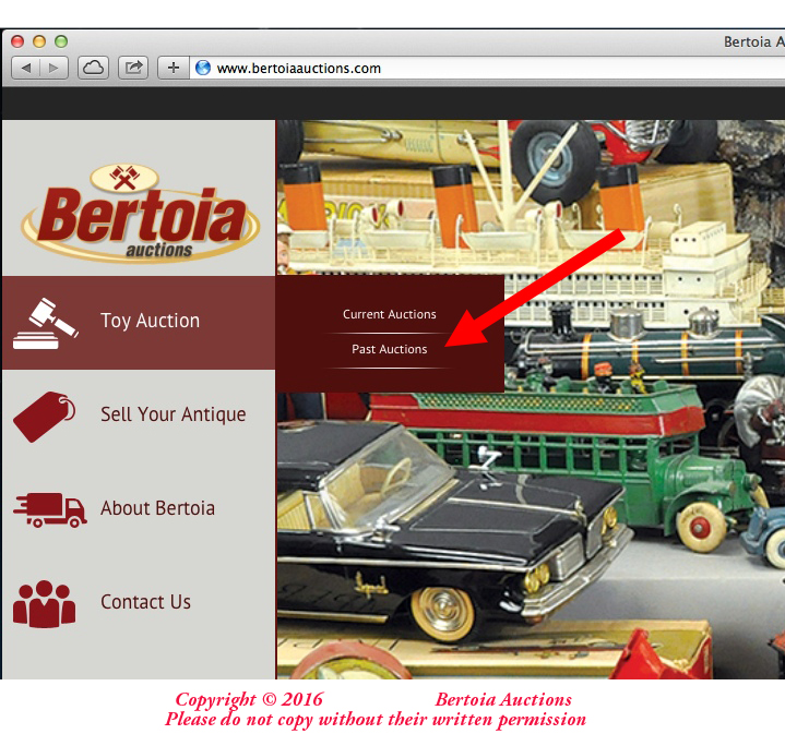Used Toys Website : Old antique toys doing a search on bertoia auctions website