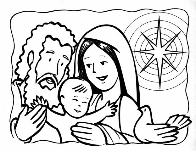 ensinanzaere: COLOREAR LA SAGRADA FAMILIA