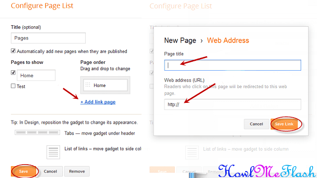add web address blogger tutorial