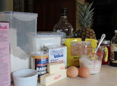 Skillet Pineapple Upside Down Cake Ingredients