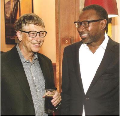 Femi Otedola Meets World's Richest Man, Bill Gates