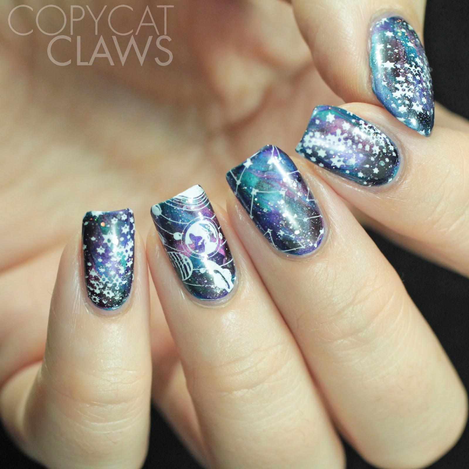 Copycat Claws: The Digit-al Dozen does Futuristic: Space Nails