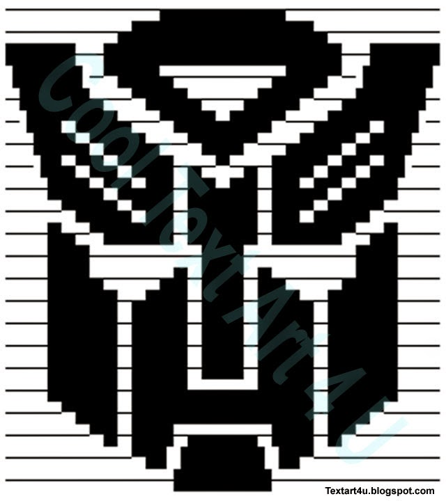 Transformers Autobot Symbol Copy Paste ASCII Art | Cool ...Art With Keyboard Symbols Copy And Paste