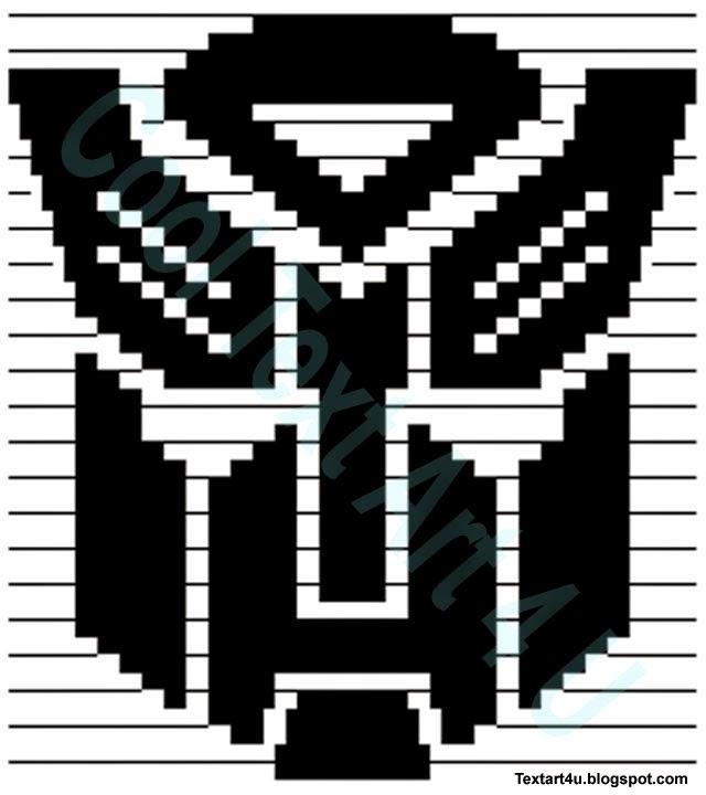 Transformers Autobot Symbol Copy Paste ASCII Art | Cool ... Symbols Copy And Paste Cool