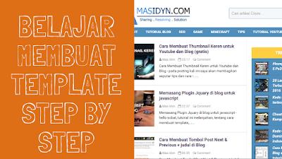 Cara Membuat Template Blog sendiri untuk pemula tutorial lengkap