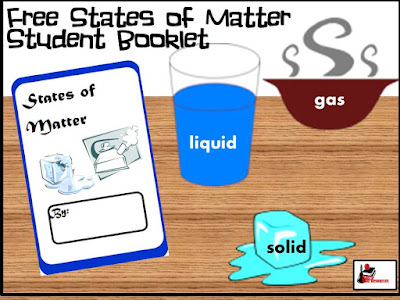 Free student booklet for the states of matter - science freebie for primary students - from Raki's Rad Resources.