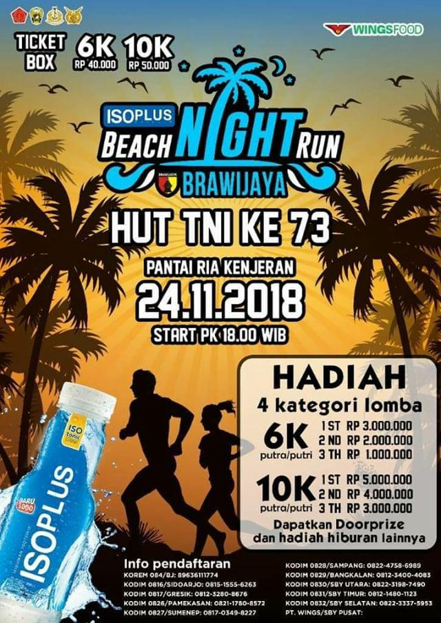 IsoPlus Beach Night Run Brawijaya • 2018