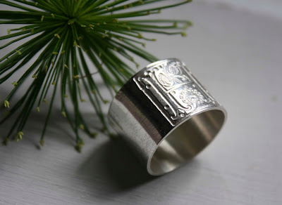 A medieval inspired wedding ring