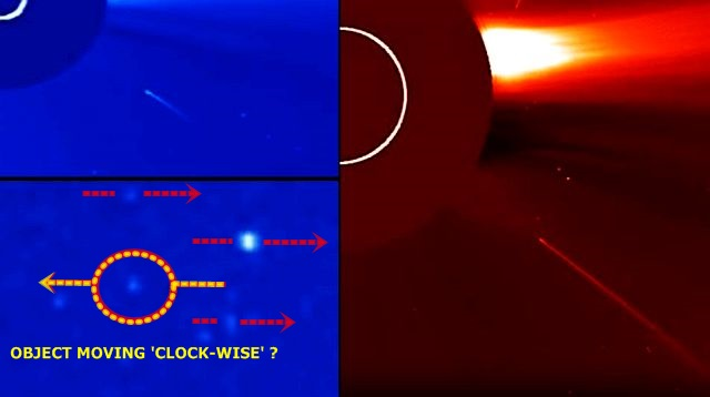 UFO News ~  Sun diving comet and unknown deep space object captured by SOHO Spacecraft plus MORE SOHO%2Bcomet%2Bspace%2Bobject