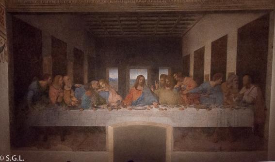 La ultima cena de Leonardo Da Vinci. Milan