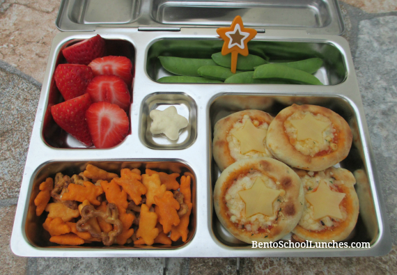 Mini pizza bento school lunch, planetbox