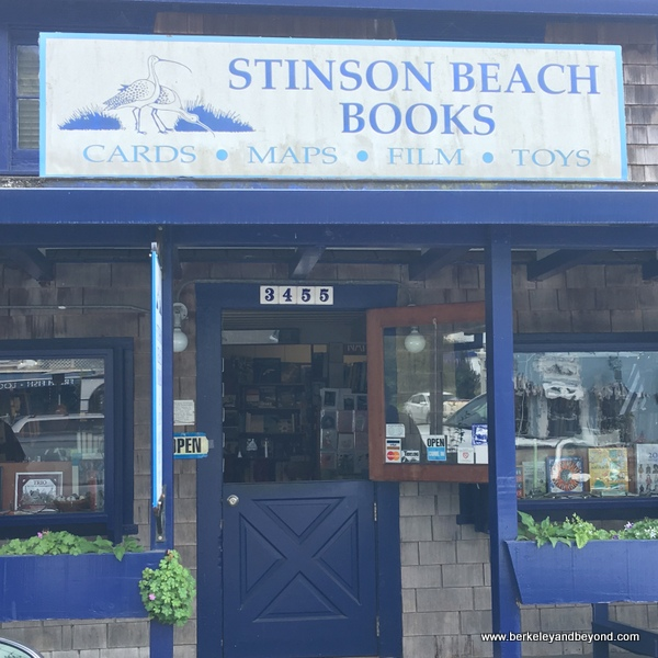 exterior of Stinson Beach Books in Stinson Beach, California
