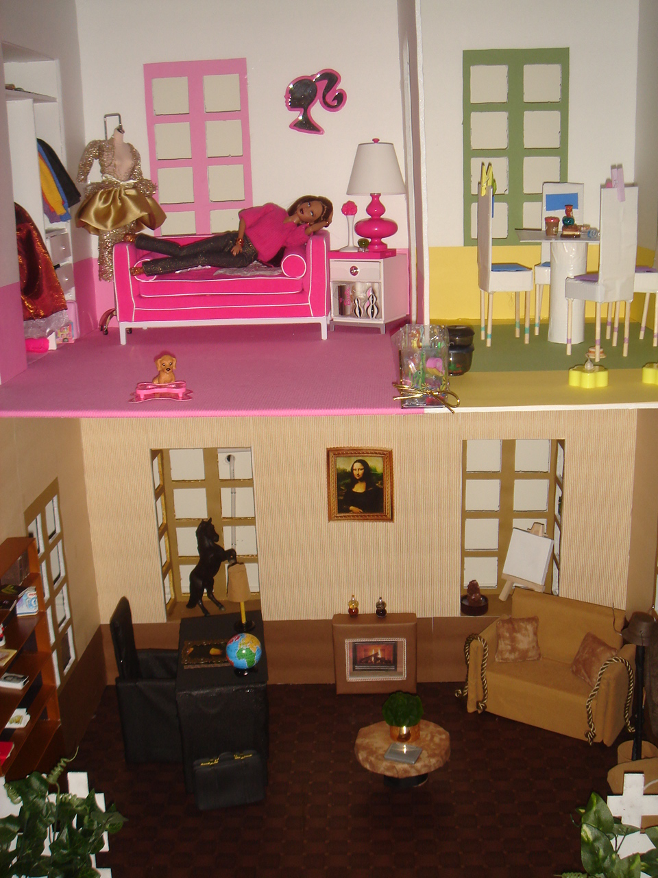 shasarignis barbie co maison de barbie barbie house. Black Bedroom Furniture Sets. Home Design Ideas