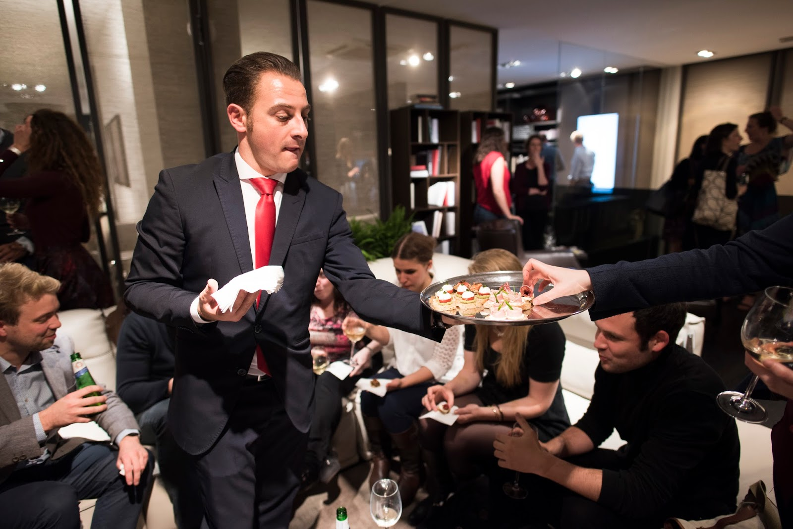Guests being served the aperitivo