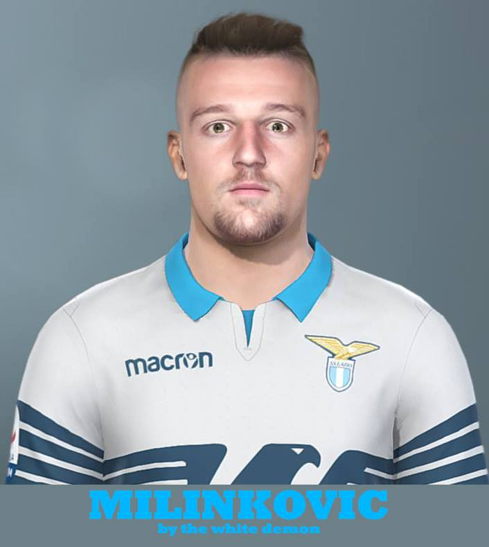 PES 2018 Milinkovic face By The White Demon
