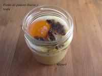 Potito de patatas huevo y trufa