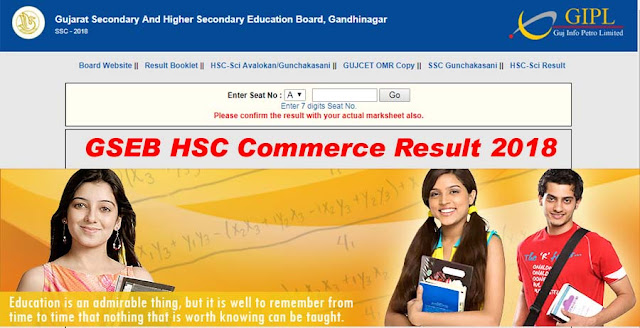 GSEB HSC Result 2018, Gujarat 12th Commerce, Arts Result check www.gseb.org