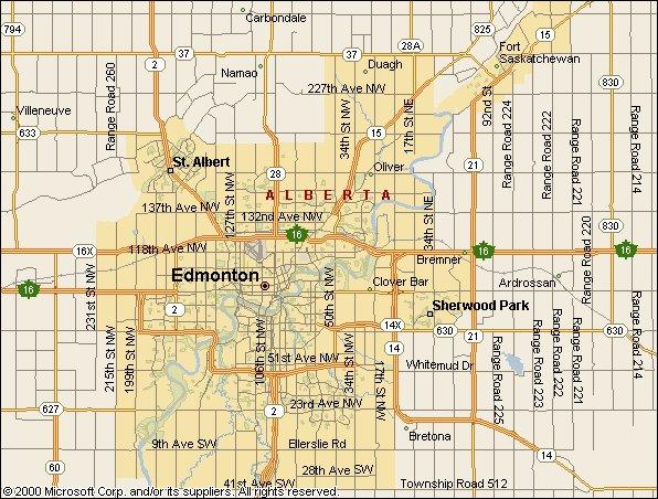 Edmonton City Limits Map