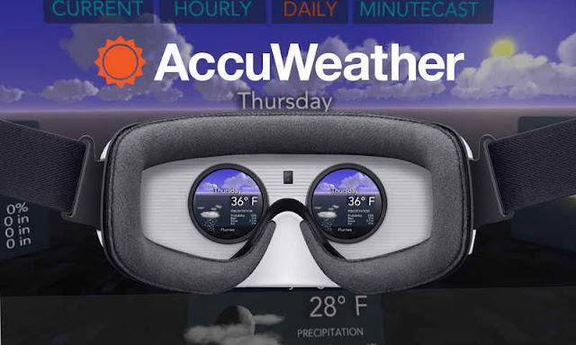 Aplikasi AccuWeather dengan visual 360 derajat Hadir di Samsung Gear VR