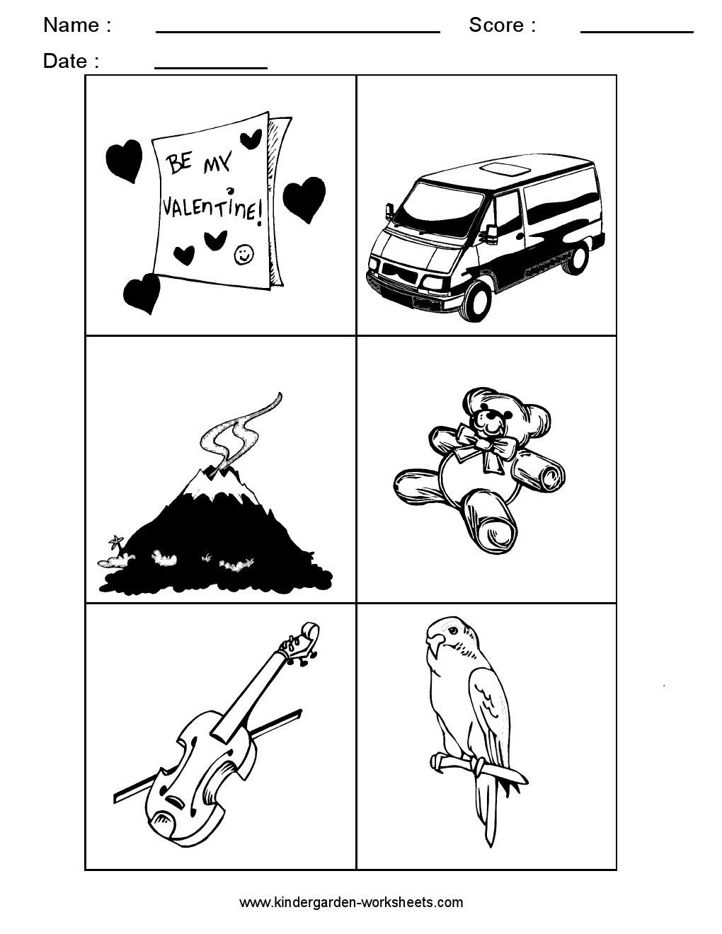 kindergarten worksheets alphabet picture cards alphabet sorting letter v. Black Bedroom Furniture Sets. Home Design Ideas