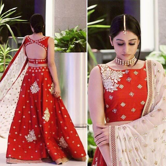 Regina Red Trendy Lehenga
