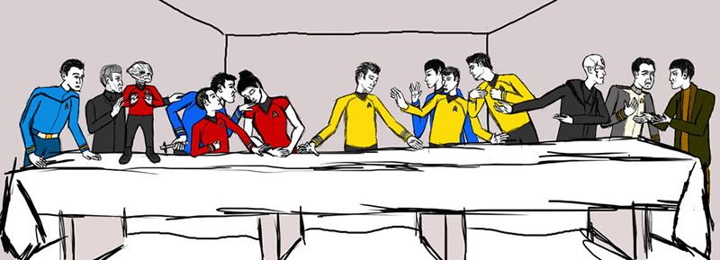 Star Trek Reboot Last Supper by Capt. Mac
